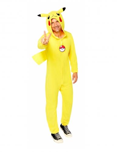 Déguisement combinaison Pikachu Pokémon™ adulte