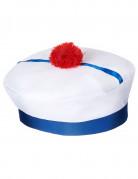Chapeau de marin à pompon adulte