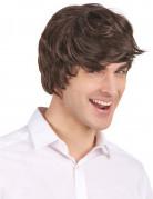 Perruque courte moderne brun homme