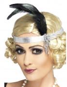 Vous aimerez aussi : Bandeau charleston argenté avec plume adulte