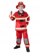 Déguisement pompier rouge enfant
