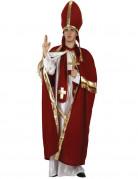 Déguisement pape rouge et blanc homme