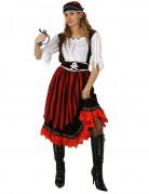 Vous aimerez aussi : Déguisement pirate à rayures rouges et noires femme