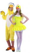 Déguisement couple de canards jaunes