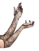 Gants longs toile d'araignée femme