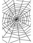 Toile d'araignée Halloween 1.5m