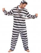 Déguisement de prisonnier noir et blanc homme