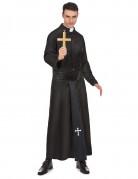 Déguisement prêtre avec col blanc homme