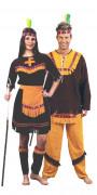 Déguisement couple d'indiens de luxe