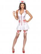 Déguisement infirmière sexy avec poches femme