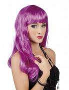 Perruque longue violette femme