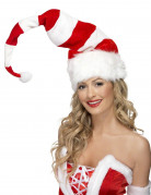 Bonnet rayé rouge et blanc adulte Noël