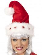 Bonnet luxe avec coeurs adulte Noël