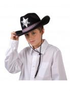 Vous aimerez aussi : Chapeau shérif noir garçon