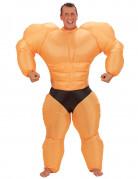 Déguisement humoristique bodybuilder gonflable adulte
