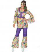 Vous aimerez aussi : Déguisement hippie fleuri et violet femme