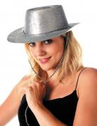 Vous aimerez aussi : Chapeau cowgirl argent à paillettes adulte