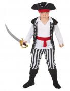 Déguisement pirate avec rayures noires et blanches garçon