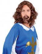 Perruque et moustache Mousquetaire homme