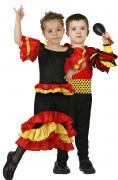 Déguisement de couple danseur et danseuse de rumba enfants