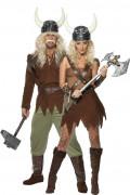 Déguisements couple vikings