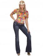 Déguisement hippie flower-power femme