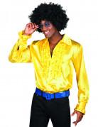 Chemise disco homme jaune