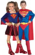 Déguisement couple Superman & Supergirl enfant