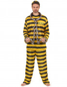Déguisement prisonnier jaune adulte