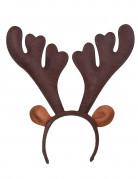 Serre-tête renne réaliste Noël
