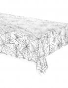 Nappe plastique transparent toile d'araignée Halloween 137 x 274 cm
