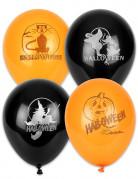 100 Ballons Halloween noirs et oranges 30 cm