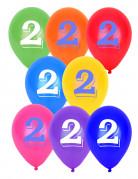 Vous aimerez aussi : 8 Ballons chiffre 2 multicolores 30 cm
