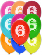 Vous aimerez aussi : 10 Ballons chiffre 6 multicolores 30 cm