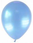 12 Ballons métallisés bleu clair 28 cm