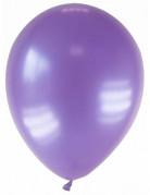 12 Ballons métallisés violets 28 cm