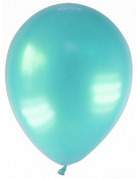 12 Ballons verts métallisés turquoise 28 cm