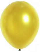 100 Ballons dorés métallisés 29 cm