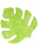 4 Sets de table en forme de feuille vert anis 35 x 40 cm