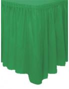Jupe de table vert émeraude en plastique