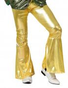 Pantalon disco homme or