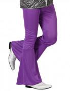 Pantalon disco homme violet