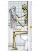Décoration de porte squelette au toilette 76,2 x 152 cm