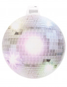 Décoration murale boule disco argentée 34 cm