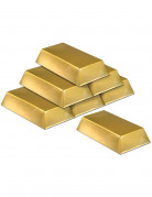 6 Faux lingots en or