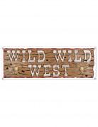 Bannière en plastique Wild Wild West 1,5 m x 53,3 cm