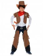 Déguisement cowboy garçon marron