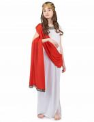 Déguisement déesse romaine à drapé rouge fille