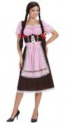 Déguisement bavaroise rose et marron femme