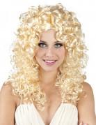 Perruque bouclée blonde de star de la pop femme